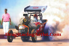 "Wild Willy Borsch's ""Winged Express"".. Drag Racing Art Print"