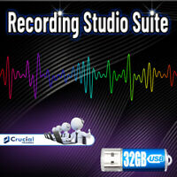 Professional Recording Studio Suite, Audio Editing Software on 32GB Flash Drive
