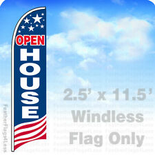 Open House - Windless Swooper Flag Feather Banner Sign 2.5'x11.5' Usa bb