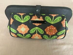 Petunia Pickle Bottom PPB Small Diaper Bag /Clutch Gray/Orange Flowers