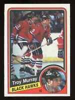 1984-85 O-Pee-Chee OPC Troy Murray #42 Rookie Card RC Chicago Blackhawks