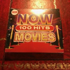 100 Hits (Now Thats What I Call Movies) 5 CD Box Set (70s 80s 90s Film Songs NEW