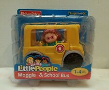 Fisher Price little people Maggie and School bus New in box boys and girls 1-4