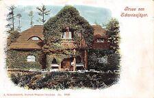 AK Dubi Eichwald Restaurant Schweissjaeger Postkarte gel. 1905