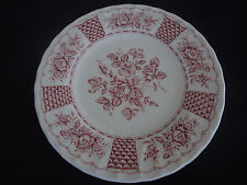 churchill myott england red melody georgian collection bread & butter plate
