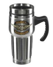 Harley-Davidson® Winged Bar & Shield Stainless Steel 16 oz Travel Mug HDX-98610