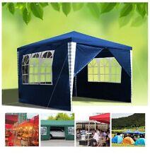 Hengda 3x3m Garden Gazebo Marquee Tent- Uv Protection, Easy to Install, Blue