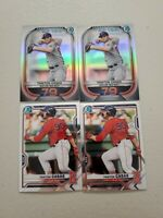 Triston Casas (4) Lot 2021 Bowman Top 100 Insert x 2 + Chrome Base x 2 Red Sox