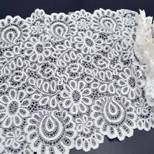3Yards 22cm Black White Lace Fabric DIY Trim Elastic Garments Accessories