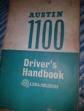 AUSTIN 1100 driver's Handbook 1964 BMC