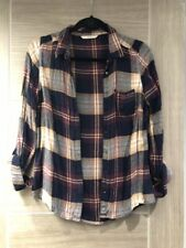 Purple & gold checked shirt size 10