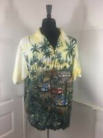 Hawaiian reserve  Shirt Size XL Made in Hawaii aloha surf shop  yellow