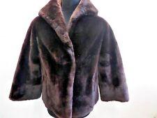 """Beaumouton Women Vintage Soft Mouton Fur Jacket Coat Brown S 38"""" Grade A LB538"""