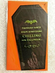 """HALLOWEEN CARD PAPYRUS GREETING CARD """"THOUGHT YOU'D ENJOY  SOMETHING CHILLING.."""""""