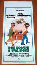 DUE UOMINI E UNA DOTE locandina poster The Fortune Jack Nicholson Beatty AA94