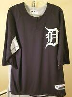 Detroit Tigers MLB Majestic Classic Blue & Gray Team Logo XL Jersey