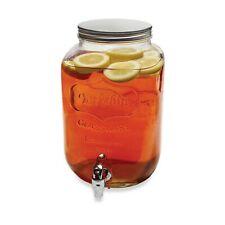 Circleware Yorkshire Iced Tea Mason Jar Glass Drink Pitcher w/ Spout & Metal Lid