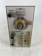 Vintage Tektronix 5b10n Time Base Amplifier Test Panel Plug In