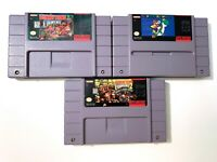 Donkey Kong Country 1 & 2 Diddy's Kong Quest Super Nintendo SNES Authentic Lot