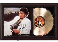 "Michael Jackson - Thriller Cherry wood Reproduction Signature Display. ""M4"""