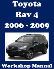 TOYOTA RAV4 RAV 4 2006 - 2009 WORKSHOP SERVICE REPAIR MANUAL DIGITAL DOWNLOAD