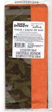 Duck Dynasty Tissue Paper Camo Orange Camouflage 6 Sheets Hallmark 2013 Gift
