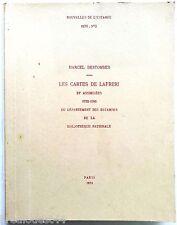 Nouvelles de l'estampe Les cartes de Lafreri et assimilees 1532-1586 n°5 1970 BN