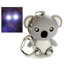 LED KOALA BEAR KEYCHAIN with Light and Sound Cute Animal Noise Key Chain Ring