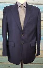 Ralph Lauren Size 38R Blue Striped Wool/Cashmere 2 Button 2 Piece Wool Mens Suit