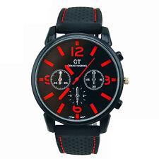 GT Vogue Sport Mens Watch Stainless Steel Analog Quartz Military WristWatches