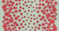 """Moda Winter's Lane Poinsettias Mint Quilting Fabric 44"""" Wide Cotton SBY"""