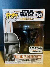 Funko Pop Mandalorian Chrome #TBD Disney Amazon Exclusive + Protector