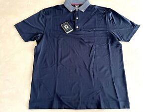 FootJoy Smooth Pique Polo Shirt 2XL Navy