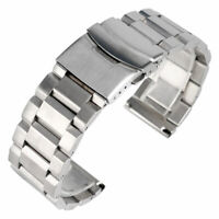 18/20/22/24mm Solid Stainless Steel Watch Band Wrist Strap Replacement Bracelet