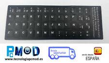 Pegatina Real Sticker para Teclado Español Negro Impresa vinilo alta calidad