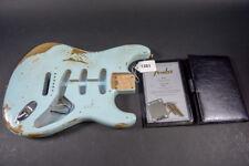 Fender Custom Shop 57 Stratocaster Body COA & Neckplate Sonic Blue Relic #1381