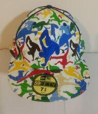 "Vintage New Era B-Boy Break Dancing White Baseball Cap Size 7 5/8"" with Sticker"