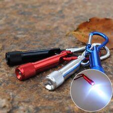 Mini LED Portable Flashlight Camping Keychain Torch Handy Light Carabiner