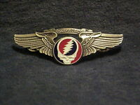 LARGE GRATEFUL DEAD STEAL YOUR FACE WINGS PIN