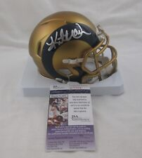 KURT WARNER signed/autographed ST LOUIS RAMS BLAZE Speed Mini Helmet - JSA