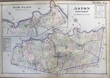 ORIGINAL 1913 A.H. MUELLER ASTON, PENNSYLVANIA, ROCKDALE STATION, PLAT ATLAS MAP