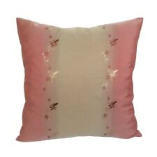 """Satin Floral Pink Embriodery 18""""x18"""" Decorative/Throw Pillow Case/Cushion Cover"""