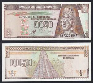 Guatemala 0,50 quetzal 1998 FDS/UNC  B-02