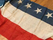 Old Antique Vintage Red White Blue American Flag Bunting WWI Era Large Stars