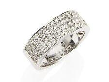 Runde Bandring-Stil aus Weißgold mit Diamanten-Ringe