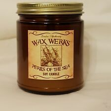 London Apothecary Wax Werks Soy Candle sea pirates ocean Caribbean waves breeze