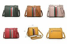 New Women's Ladies Inspired Stripe Designer Style Crossbody Bag Shoulder Handbag