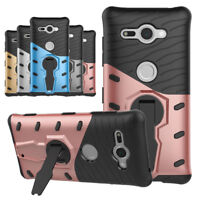 Hybrid Hard Armor Case Shockproof Stand Phone Cover For Sony Xperia XZ2/Compact