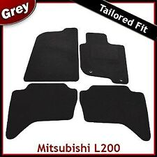 Mitsubishi L200 Mk4 2006-2015 Tailored Fitted Carpet Car Floor Mats GREY