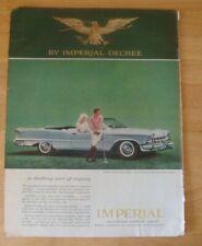 1959 CHRYSLER IMPERIAL Magazine Print Ad  (117)